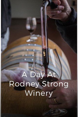 A Day At Rodney Strong Winery