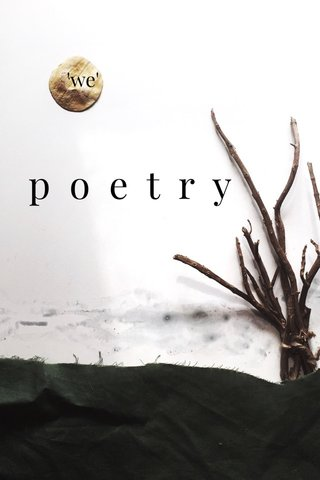 poetry 'we'