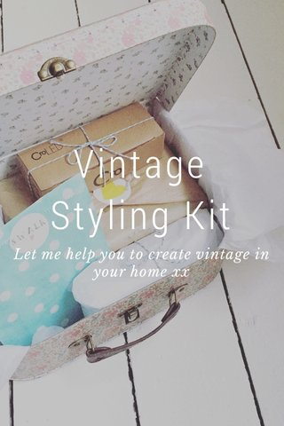 Vintage Styling Kit Let me help you to create vintage in your home xx