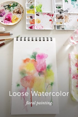 Loose Watercolor floral painting