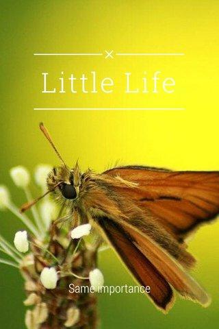 Little Life Same importance