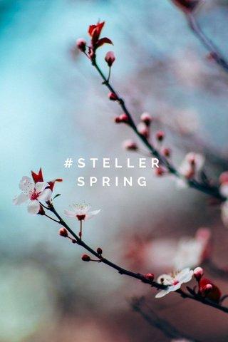 #STELLERSPRING