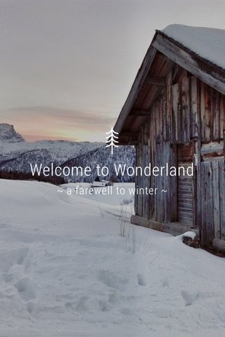 Welcome to Wonderland ~ a farewell to winter ~