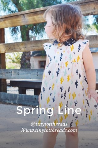 Spring Line @tinytotthreads Www.tinytotthreads.com