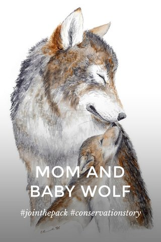 MOM AND BABY WOLF #jointhepack #conservationstory