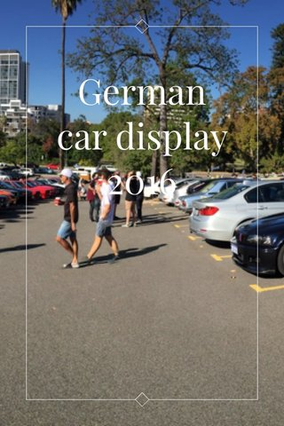 German car display 2016