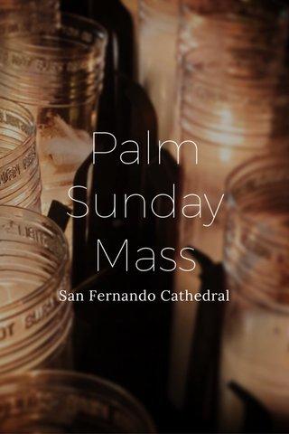 Palm Sunday Mass San Fernando Cathedral