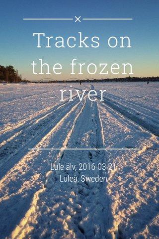 Tracks on the frozen river Lule älv, 2016-03-21 Luleå, Sweden