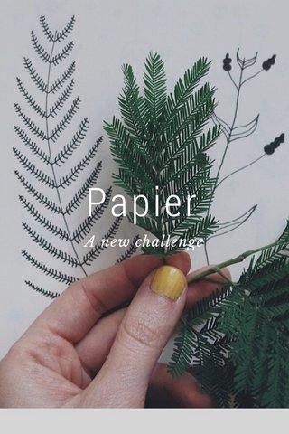 Papier A new challenge