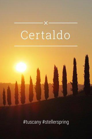Certaldo #tuscany #stellerspring