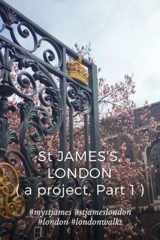 St JAMES'S, LONDON ( a project, Part 1 ) #mystjames #stjameslondon #london #londonwalks