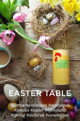 EASTER TABLE #fortnumandmason #mystjames #london #easter #5ftinftable #spring #stelleruk #seewhatisee