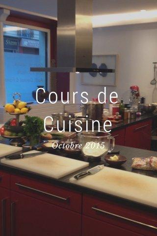 Cours de Cuisine Octobre 2015