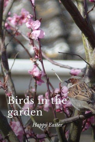 Birds in the garden Happy Easter