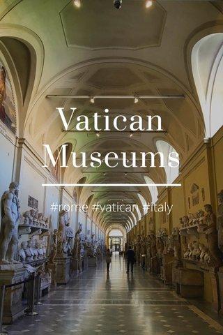 Vatican Museums #rome #vatican #italy