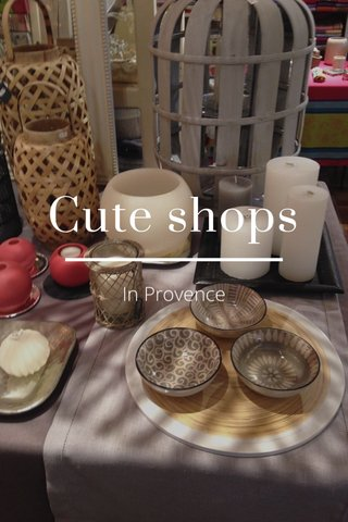 Cute shops In Provence