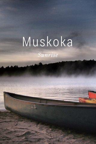 Muskoka Sunrise