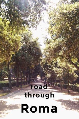 Roma road through