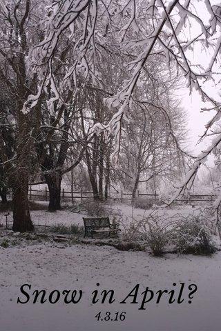 Snow in April? 4.3.16