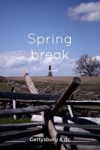 Spring break Gettysburg & dc