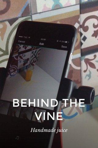 BEHIND THE VINE Handmade juice