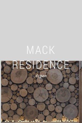 MACK RESIDENCE Aspen