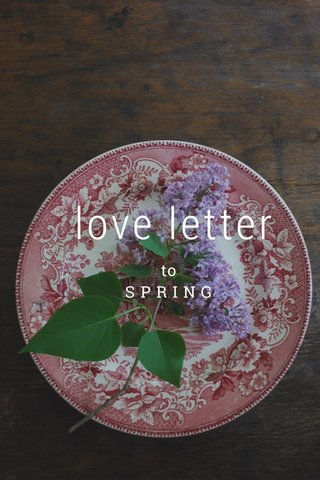 love letter to S P R I N G