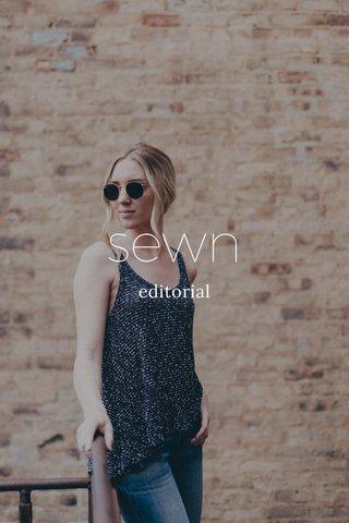 sewn editorial