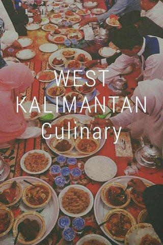 WEST KALIMANTAN Culinary