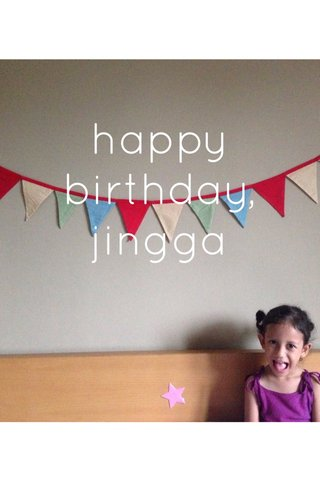 happy birthday, jingga
