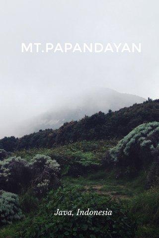 MT.PAPANDAYAN Java, Indonesia