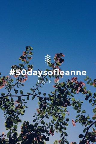#50daysofleanne (Days 6-10)