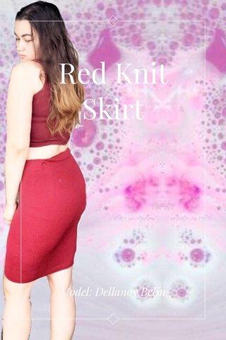 Red Knit Skirt Model: Dellanoy Belin