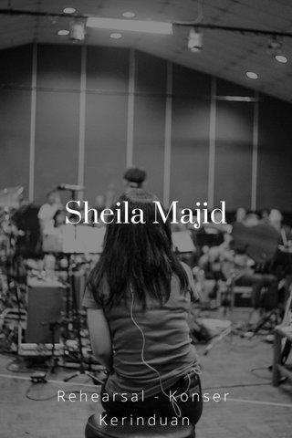 Sheila Majid Rehearsal - Konser Kerinduan