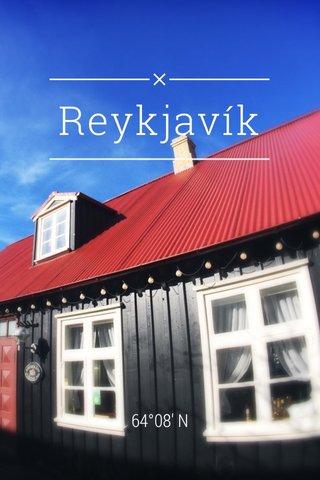 Reykjavík 64°08' N
