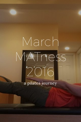 March MATness 2016 a pilates journey