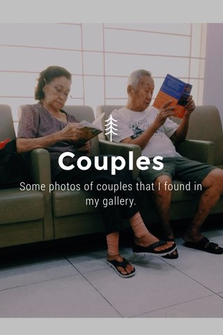 Couples Some photos of couples that I found in my gallery.