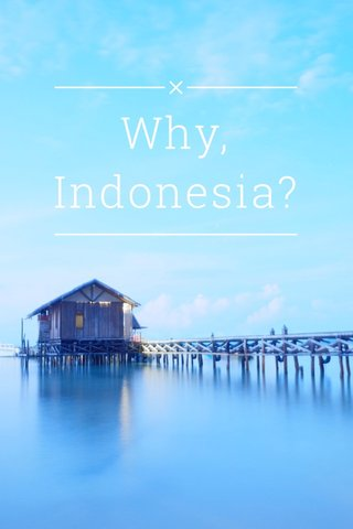 Why, Indonesia?