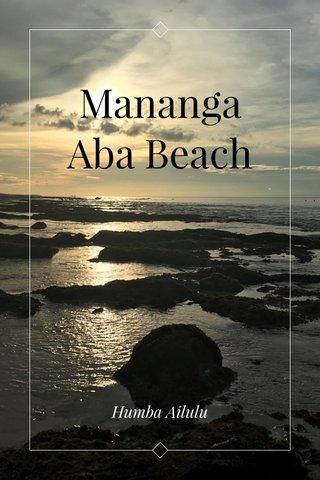 Mananga Aba Beach Humba Ailulu