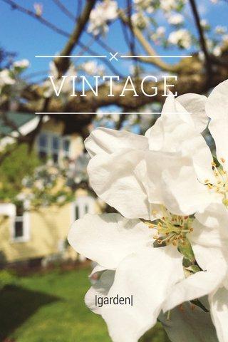 VINTAGE |garden|