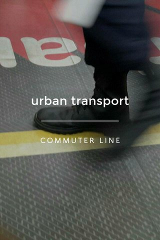 urban transport COMMUTER LINE