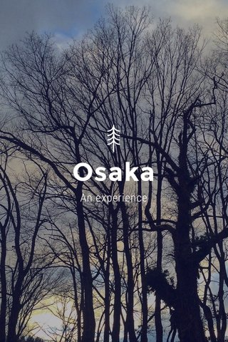 Osaka An experience