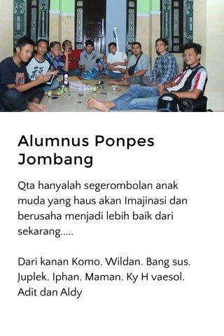 Alumnus Ponpes Jombang