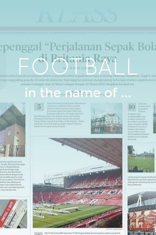 FOOTBALL in the name of ...