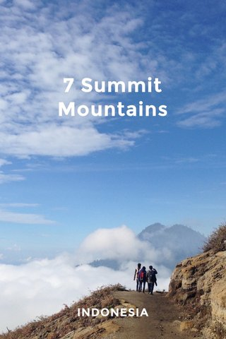 7 Summit Mountains INDONESIA
