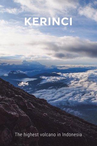 KERINCI The highest volcano in Indonesia
