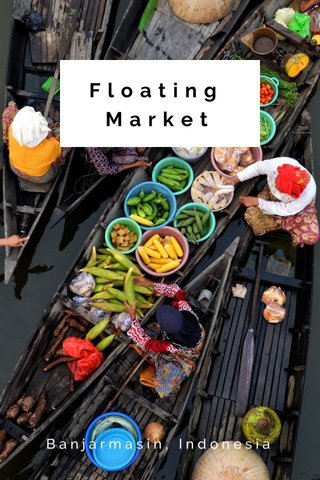 Floating Market Banjarmasin, Indonesia