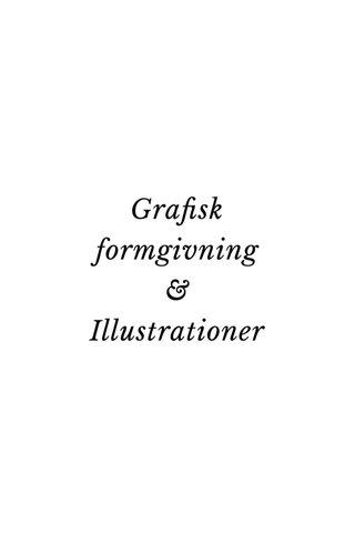 Grafisk formgivning & Illustrationer