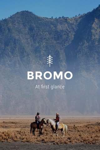 BROMO At first glance