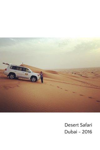 Desert Safari Dubai - 2016